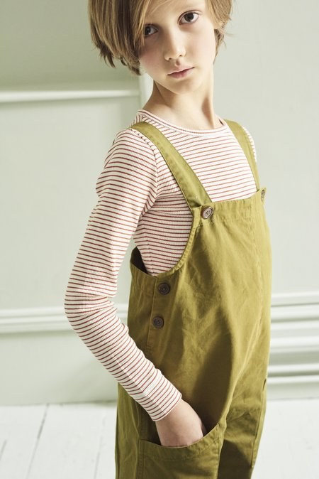 Kids Caramel Hampstead Dungaree - Opaline Green