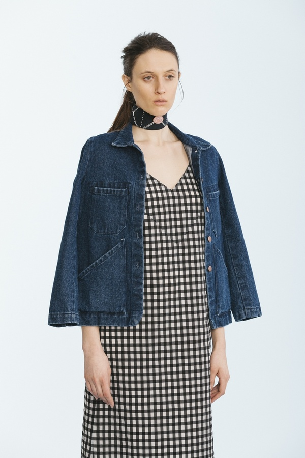 Carleen Triangle Pocket Jacket Blue