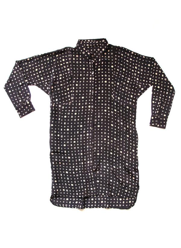 Sample Sale / Stevie Shirt Dress, portals print