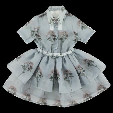 caroline bosmans layered organza dress - daisy