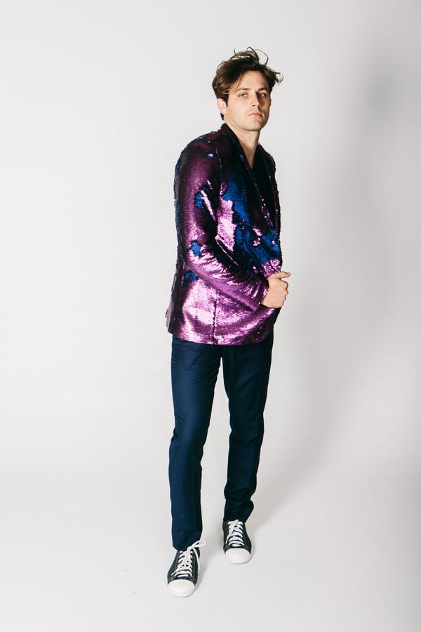 Men's Any Old Iron Purple/Blue Jacket