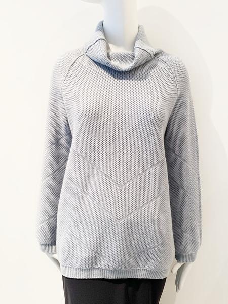Tonet cashmere mock neck long sweater - pale blue