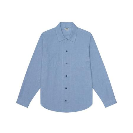 Knickerbocker Comma Oxford Shirt - Light Indigo Chambray