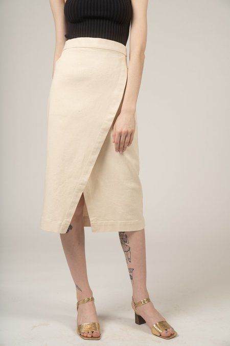 Micaela Greg Wrap jean skirt - Cream