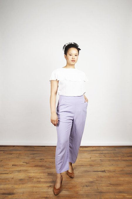 Eve Gravel Aztec Pants - Lavender