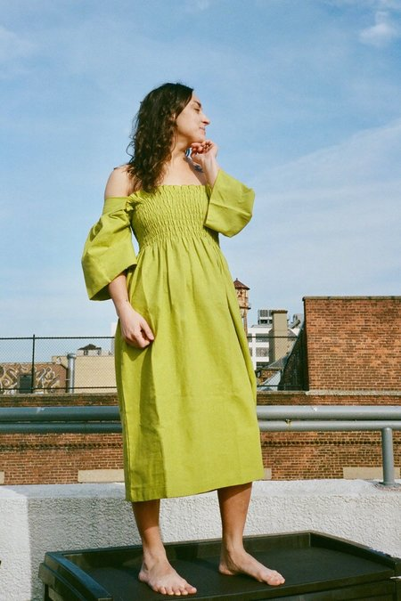 Lisa Says Gah Toni Midi Dress - Olive