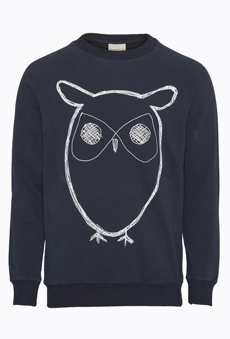 Knowledge Cotton ELM Big Owl Sweat - Total Eclipse