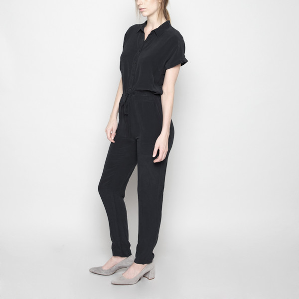 7115 by Szeki Silk Jumpsuit FW16 - Black