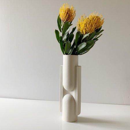 Light + Ladder Kala Vase - White