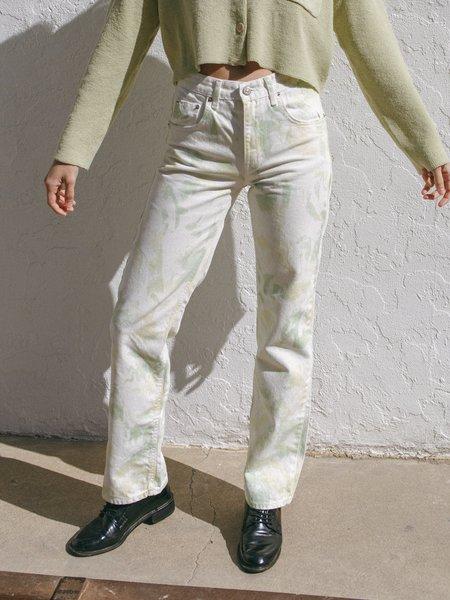 JOWA. Sister Market Tie Dye Straight leg Jean - Green/Yellow