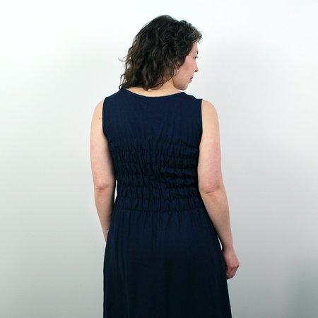 modaspia Fiji Dress - Navy Linen