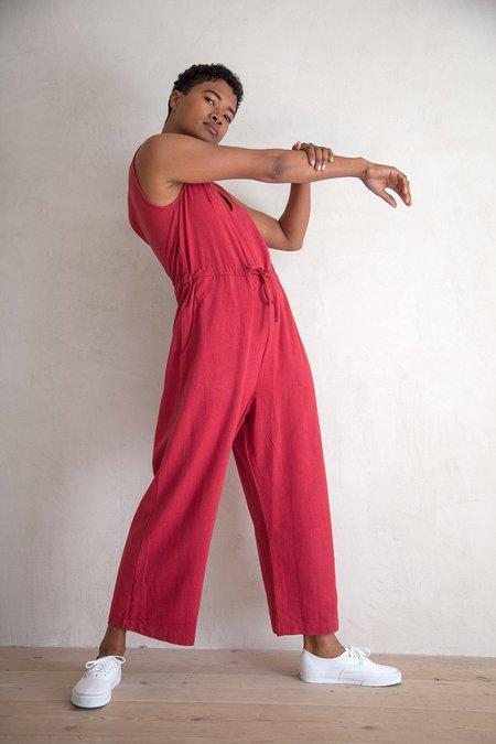Ali Golden Silk Slit-back Jumper - Raspberry