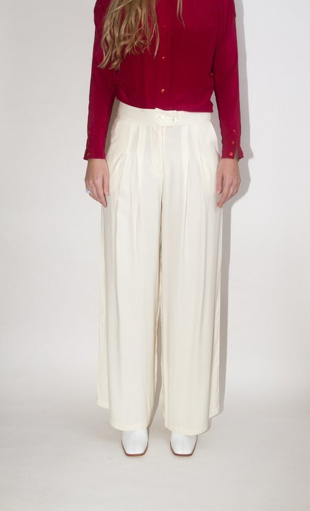 Rita Row Pleated Pant - Clay