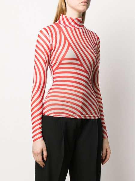 Henrik Vibskov Pool mesh Top - Red Stripes
