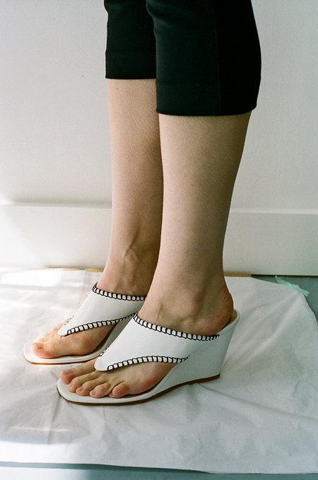 MARYAM NASSIR ZADEH Talia Thong Sandals - White