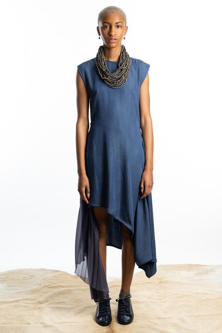 SHANSHAN RUAN Linen Twill Dress