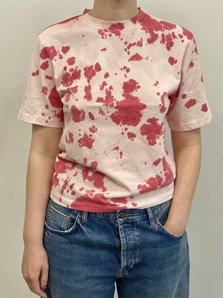 By Signe Moon Tee - Red Tie Dye