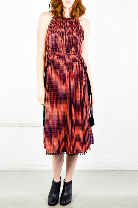 Apiece Apart Small Ripples Print Lippard Dress