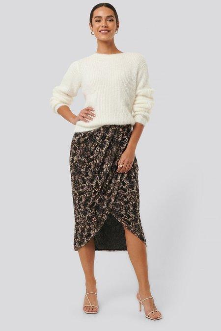 NA-KD Printed Overlap Skirt