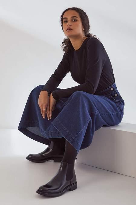 Kowtow Outline Skirt - Mid Blue Denim