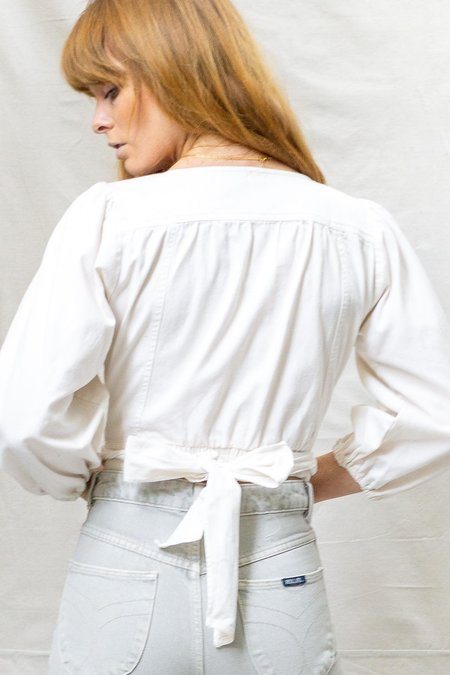 Free People Sophie Solid Top - white