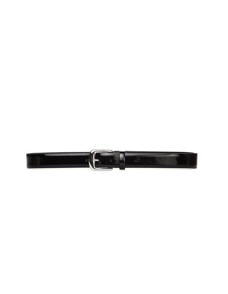 Maison Margiela Black Patent Leather Belt