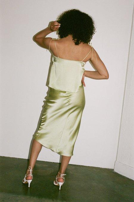 PRISCAVera Slip Skirt - Fennel