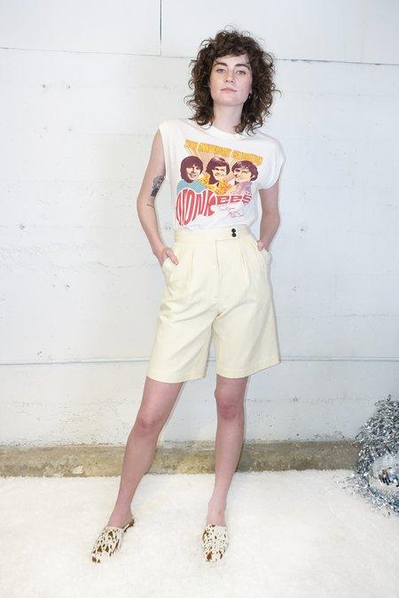 Caron Callahan Cotton Linen Inez Shorts - Butter