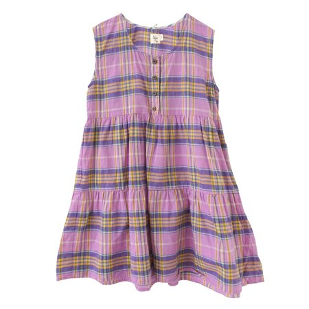 Kids nico nico evelyn tiered dress - orchid