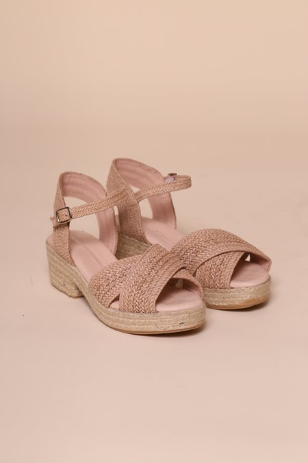 """""""INTENTIONALLY __________."""" Coco Sandals - Beige"""