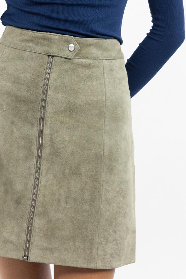 just female Fer Zip Skirt - Litchen Green