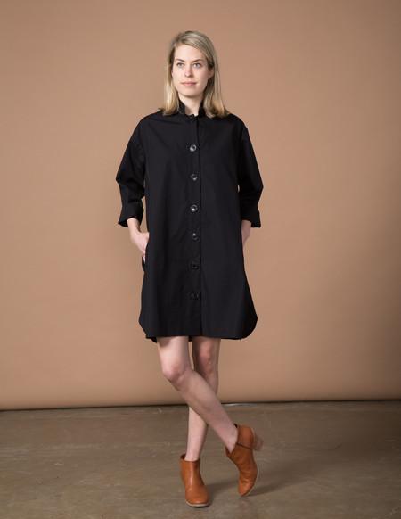 SBJ Austin Stacey Dress - Black Poplin