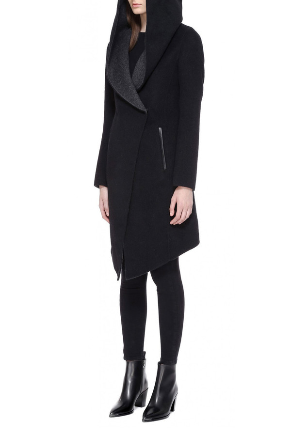 Mackage Joslyn Wool Coat I Black Charcoal