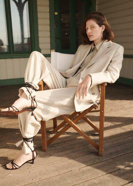 House of Dagmar Mindy linen pants - sand