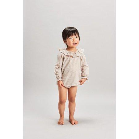 baby belle enfant plumeti blouse - flax