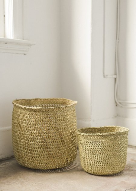 Charlie & Lee Open Weave Iringa Baskets