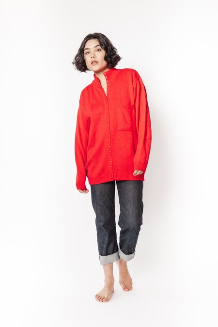 vintage Eileen & Co. button up sweater - Red