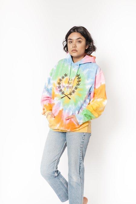 Le Superbe California La Vie tie dye hoodie