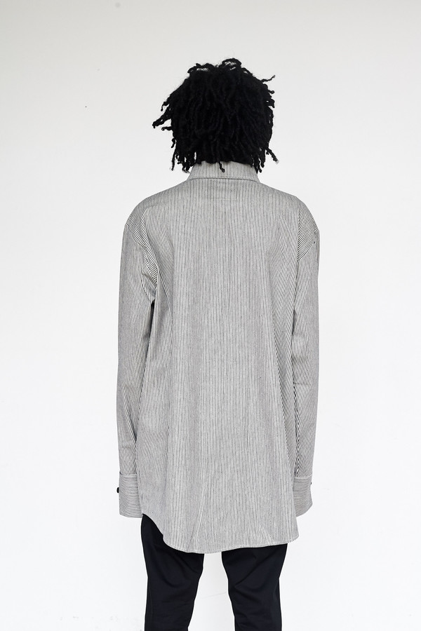 Unisex Assembly New York Cotton Railroad Stripe Chimayo Shirt