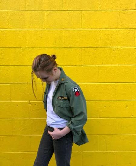 Nikki Fenix vintage patched US military shirt jacket