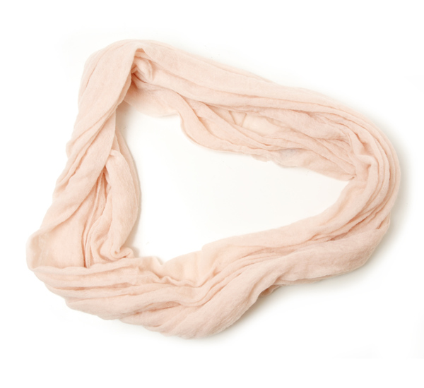 Botto Giuseppe Thick Blush Cashmere Tube Scarf