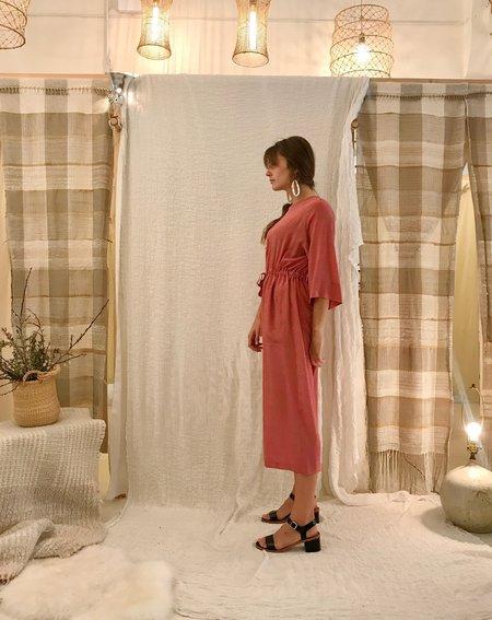 No.6 Ida Jumpsuit - Tan/Pink Dots