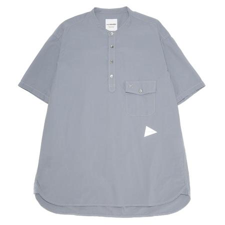 and wander Cordura Typewriter Over Shirt - Light Blue