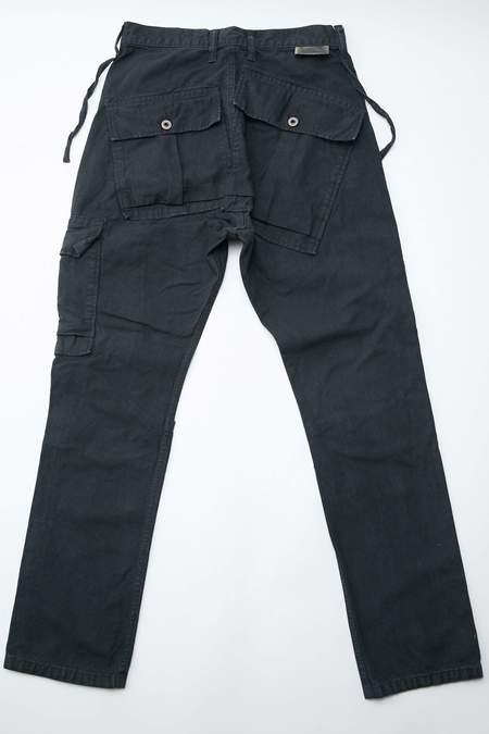 Kapital Light Canvas RINGOMAN Cargo Pants - Black