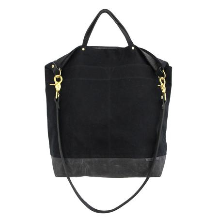 Ali Golden REVERSIBLE BAG with BLACK STRAP - black