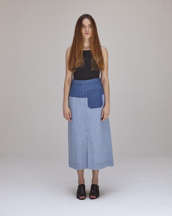 Caron Callahan Georgia Skirt in Blue Combo