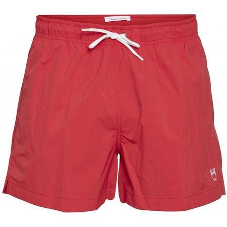 knowledge cotton apparel vegan bay swim shorts - scarlet