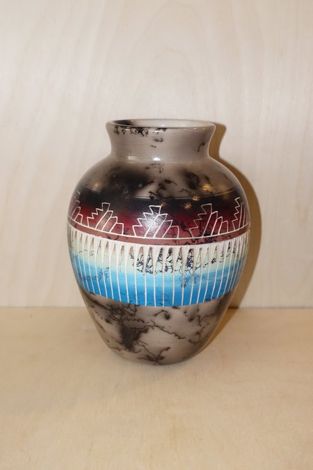 Queen City General Store Navajo Horsehair Vase