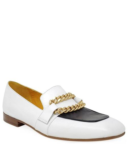 MARA BINI FLAT LOAFER - White/Black