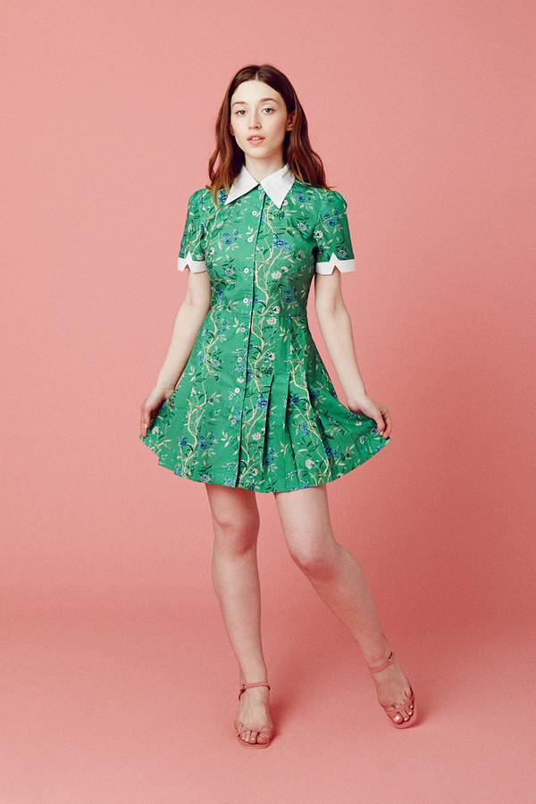 Samantha Pleet Wallflower Dress - Green Wallpaper